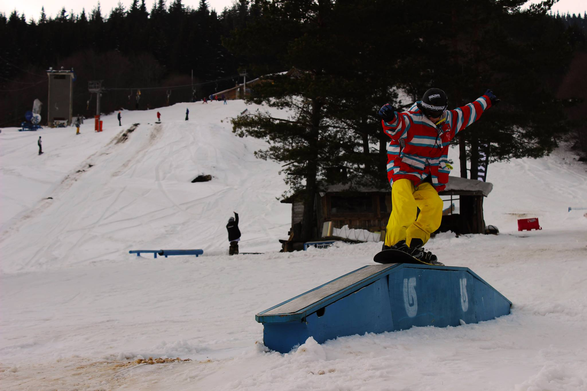сноуборд, лагер, сноуборд уроци, осогово, jibbing