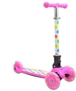 тротинетки, розова тротинетка, kiddimoto, база, триколка, тротинетка с три колела, скутер