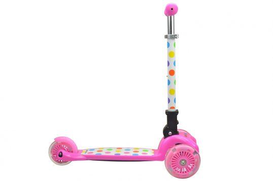 тротинетки, розова тротинетка, kiddimoto, база, триколка, тротинетка с три колела,