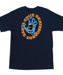 черна тениска, крещяща ръка, тениска за подарък, santa cruz logo, скейт, Калифорния, спирала, скейтборд облекло, santa cruz, скейтборд екипировка, скейтъркса тениска, магазин за скейтборд