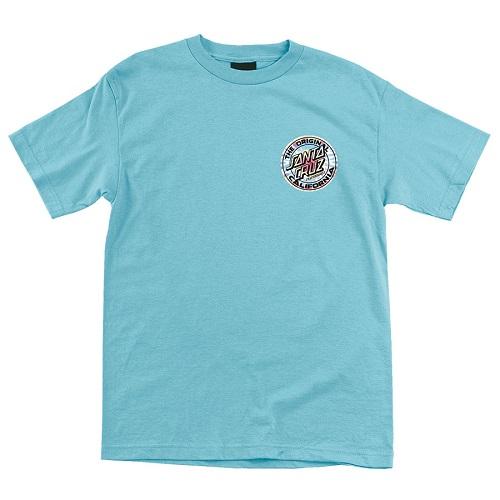синя тениска, Калифорния, спирала, скейтборд облекло, santa cruz, скейтборд екипировка, скейтъркса тениска, магазин за скейтборд