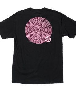 черна тениска, спирала, скейтборд облекло, santa cruz, скейтборд екипировка, скейтъркса тениска, магазин за скейтборд