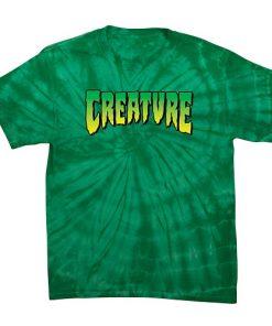 тениска, creature skateboards, скейтборд екипировка, маркови тениски, тениска за скейтборд, тениска с щампа, база,
