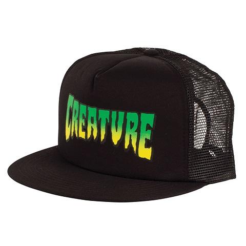 шапка с козирка, регулируема шапка, черна шапка с мрежа, snapback, 5 панел, маркови шапки с козирка, creature skateboards